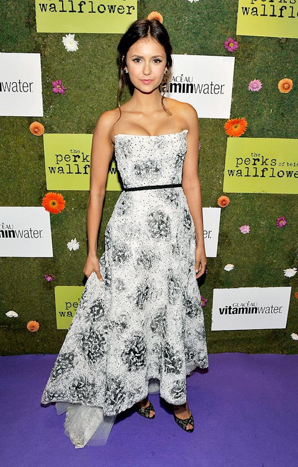 """TORONTO, ON - SEPTEMBER 08: Actress Nina Dobrev attends the official party for the cast of """"Perks of Being a Wallflower"""" hosted by vitaminwater during the 2012 Toronto International Film Festival on September 8, 2012 in Toronto, Canada.  (Photo by Jerod Harris/Getty Images For Vitaminwater)"""