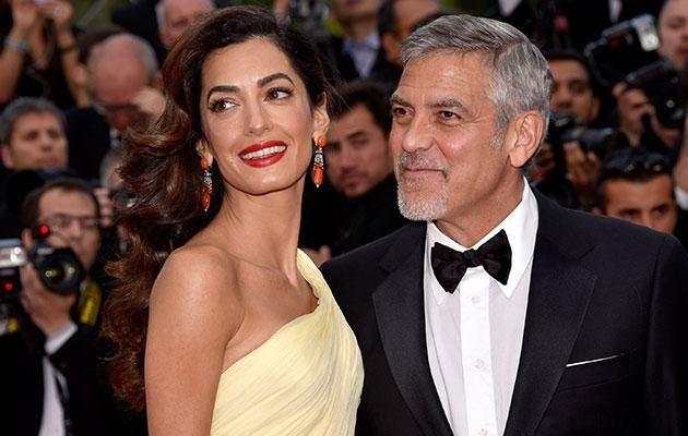 Proud parents George and Amal welcomed their twins on June 6. Source: Getty