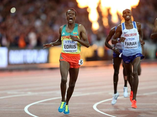 Mukhtar Edris edged out Mo Farah to victory in the 5,000m last summer (Getty)