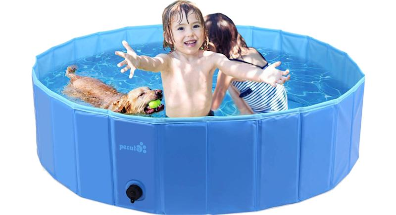 Pecute Paddling Pool for Pets& Kids