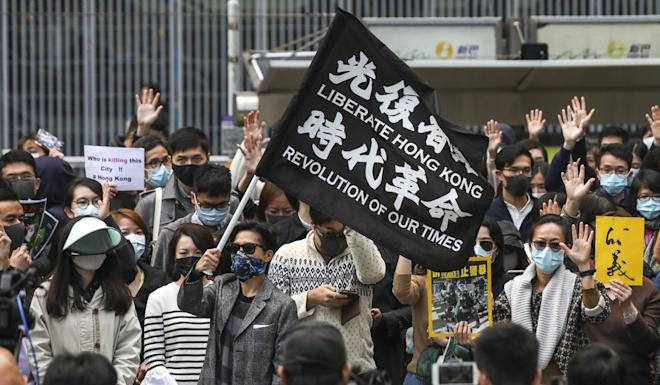 Hong Kong has been rocked by more than six months of anti-government protests. Photo: Xiaomei Chen