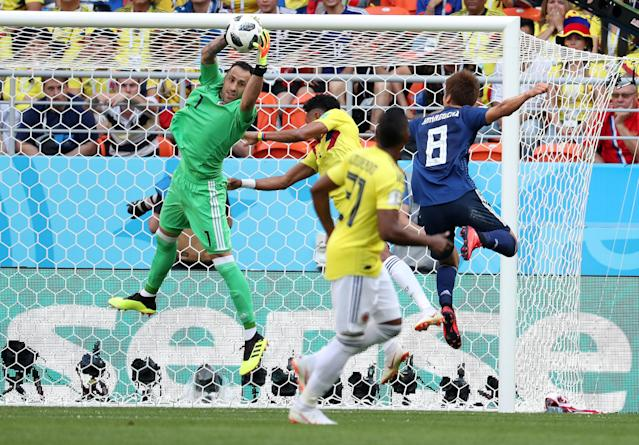 Soccer Football - World Cup - Group H - Colombia vs Japan - Mordovia Arena, Saransk, Russia - June 19, 2018 Colombia's David Ospina makes a save REUTERS/Ricardo Moraes