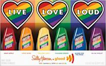<p>Sally Hansen is partnering with GLAAD for the <span>Sally Hansen Insta-Dri X Pride Rainbow 6 Piece Set</span> ($25). If you want something more than just the standard rainbow, check out the <span>Sally Hansen Insta-Dri X All-Gender Pride 6 Piece Set</span> ($25).</p>