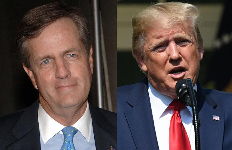 Brit Hume defended Fox News after Trump criticized the network. (Photos: Getty Images)