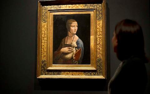 Lady with an Ermine, National Museum Krakow - Credit: 2011 AFP/CARL COURT