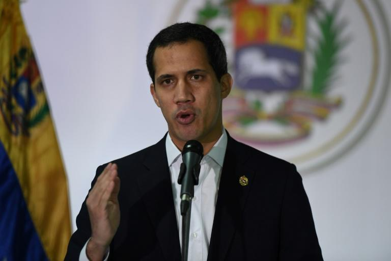 """""""Corruption cannot be tolerated,"""" Venezuelan opposition leader Juan Guaido told reporters following corruption allegations against MPs aligned with him on December 1, 2019"""