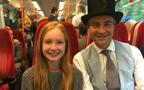Iris Goldsmith pictured with her father, financier Ben Goldsmith - Credit: PA