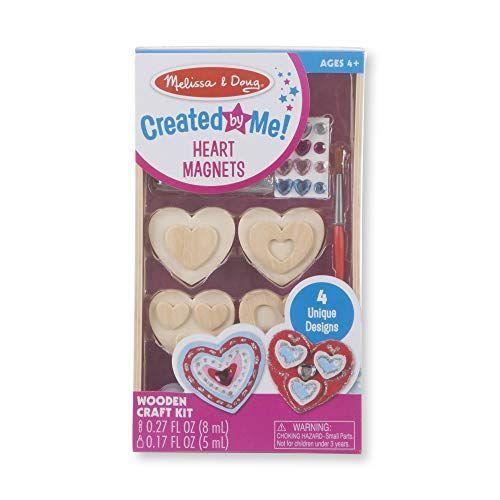 """<p><strong>Melissa & Doug</strong></p><p>amazon.com</p><p><strong>$4.99</strong></p><p><a href=""""https://www.amazon.com/dp/B0794SC5FT?tag=syn-yahoo-20&ascsubtag=%5Bartid%7C10050.g.5114%5Bsrc%7Cyahoo-us"""" rel=""""nofollow noopener"""" target=""""_blank"""" data-ylk=""""slk:Shop Now"""" class=""""link rapid-noclick-resp"""">Shop Now</a></p><p>Stickers, paints, and wooden heart magnets make it easy for your kids to craft something they're proud of. You can display their final creations on the fridge.</p>"""