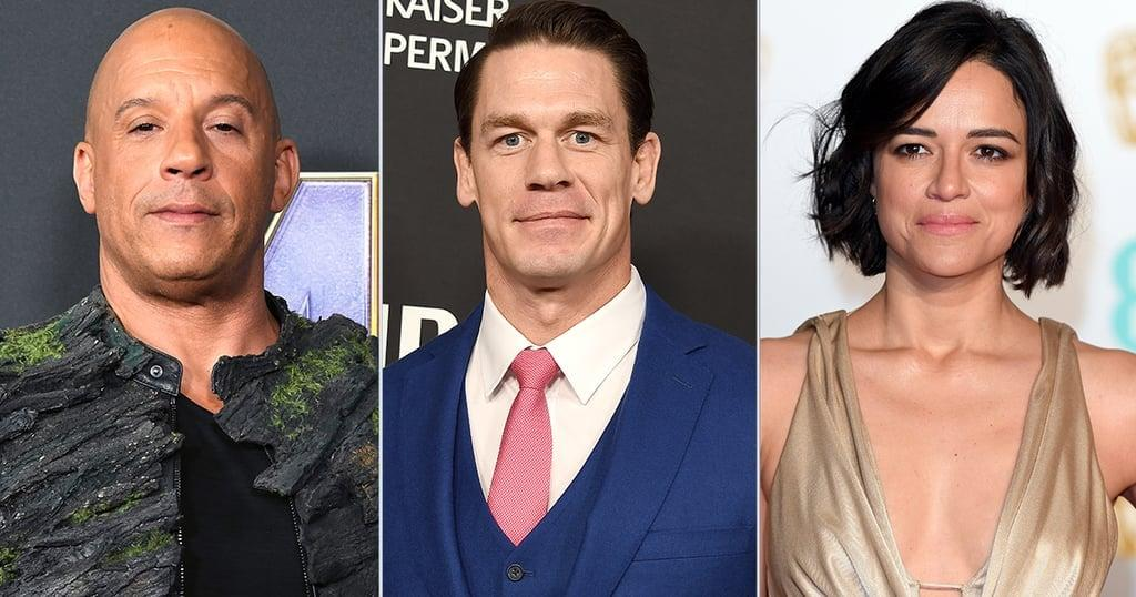 "<p>Vin Diesel, Michelle Rodriguez, Tyrese Gibson, and <a href=""https://www.popsugar.com/entertainment/Fast-Furious-9-Cast-46255862"" class=""ga-track"" data-ga-category=""Related"" data-ga-label=""https://www.popsugar.com/entertainment/Fast-Furious-9-Cast-46255862"" data-ga-action=""In-Line Links"">Jordana Brewster will all be reprising their roles</a> as Dominic ""Dom"" Toretto, Letty Ortiz, Roman Pearce, and Mia Toretto, respectively. <a class=""sugar-inline-link ga-track"" title=""Latest photos and news for Charlize Theron"" href=""https://www.popsugar.com/Charlize-Theron"" target=""_blank"" data-ga-category=""Related"" data-ga-label=""https://www.popsugar.com/Charlize-Theron"" data-ga-action=""&lt;-related-&gt; Links"">Charlize Theron</a> and <a class=""sugar-inline-link ga-track"" title=""Latest photos and news for Helen Mirren"" href=""https://www.popsugar.com/Helen-Mirren"" target=""_blank"" data-ga-category=""Related"" data-ga-label=""https://www.popsugar.com/Helen-Mirren"" data-ga-action=""&lt;-related-&gt; Links"">Helen Mirren</a> are also getting behind the wheel again, but the <strong>Fast and Furious</strong> family just added a new member: John Cena! In June, the 42-year-old <a href=""https://twitter.com/JohnCena/status/1137113100132462593?s=20"" target=""_blank"" class=""ga-track"" data-ga-category=""Related"" data-ga-label=""https://twitter.com/JohnCena/status/1137113100132462593?s=20"" data-ga-action=""In-Line Links"">WWE wrestler tweeted</a>, ""For nearly 20 years, the Fast Franchise has entertained fans and created some of the biggest cinematic moments in history. It's an incredible honor to join this franchise and this family."" His role still has yet to be revealed.</p>"