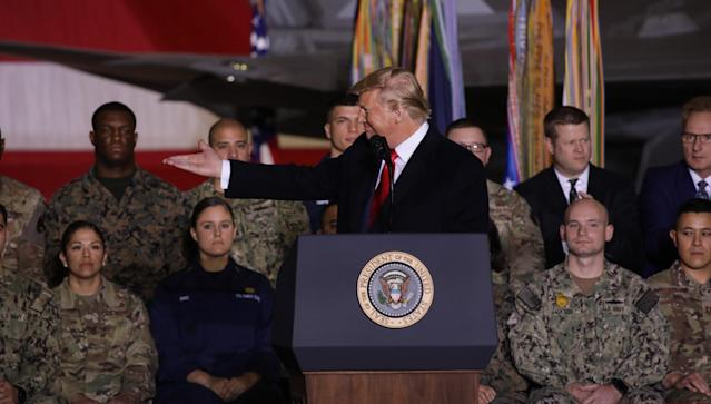 Donald Trump's 2020 defense spending bill, the 2020 National Defense Authorization Act (NDAA), authorised a top-line budget of $738 billion (Picture: Yasin Ozturk/Anadolu Agency via Getty Images)