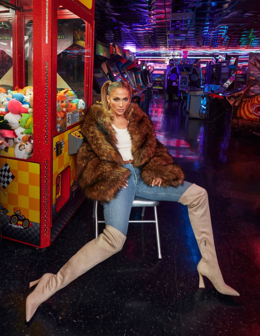 Jennifer Lopez debuts new pieces from her JLo Jennifer Lopez for DSW fall '21 footwear collection. - Credit: Greg Swales for DSW