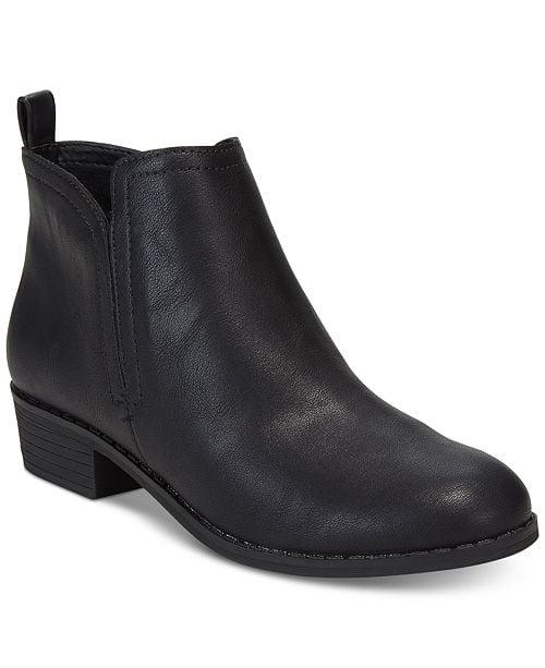 """<p>You can't go wrong with these classic black <a href=""""https://www.popsugar.com/buy/American-Rag-Cadee-Ankle-Booties-498304?p_name=American%20Rag%20Cadee%20Ankle%20Booties&retailer=macys.com&pid=498304&price=50&evar1=fab%3Aus&evar9=46720231&evar98=https%3A%2F%2Fwww.popsugar.com%2Fphoto-gallery%2F46720231%2Fimage%2F46720242%2FAmerican-Rag-Cadee-Ankle-Booties&list1=shopping%2Cfall%20fashion%2Cshoes%2Cboots%2Cfall%2Cfall%20shoes%2Cmacys%2Cwide%20feet&prop13=api&pdata=1"""" rel=""""nofollow"""" data-shoppable-link=""""1"""" target=""""_blank"""" class=""""ga-track"""" data-ga-category=""""Related"""" data-ga-label=""""https://www.macys.com/shop/product/american-rag-cadee-ankle-booties-created-for-macys?ID=5137243&amp;CategoryID=25122&amp;sizes=WOMEN_SHOE_WIDTH_SIZE_T!!Wide;;Extra%20Wide#fn=SIZE%3DWOMEN_SHOE_WIDTH_SIZE_T%3AWide%7CExtra%20Wide"""" data-ga-action=""""In-Line Links"""">American Rag Cadee Ankle Booties</a> ($50).</p>"""