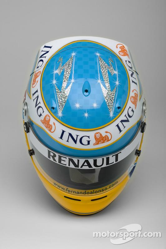 "Casco de Fernando Alonso en 2008 <span class=""copyright"">LAT Images</span>"