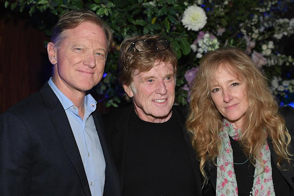 James Redford, Robert Redford and Shauna Redford: Getty Images