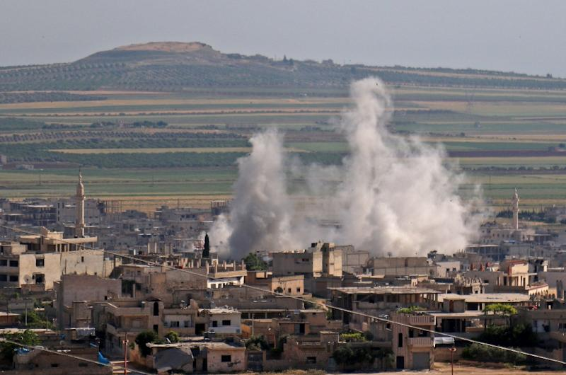Syrian forces and their Russian allies have stepped up attacks on the jihadist-controlled Idlib region, raising alarm that a full-on offensive is imminent to seize the territory