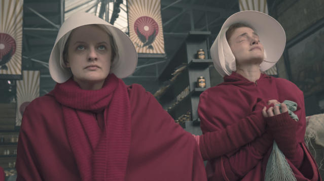 "Warning: Spoilers for ""The Handmaid's Tale"" below!"