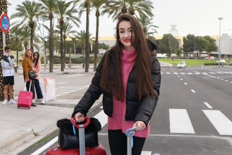 PALMA DE MALLORCA, SPAIN - DECEMBER 21: Adara Molinero arrives to Palma de Mallorca on December 21, 2019 in Palma de Mallorca, Spain. (Photo by Europa Press Entertainment/Europa Press via Getty Images)