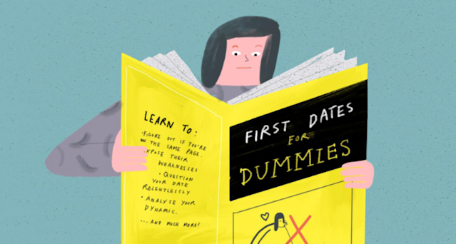 First dates can determine a lot. (Illustration: Hannah Jacobs for Yahoo Style)