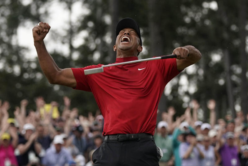 Tiger Woods at the 2019 Masters. (AP Photo/David J. Phillip,File)