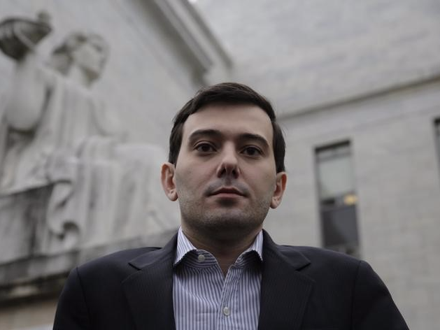 Martin Shkreli, former CEO of Turing Pharmaceuticals LLC, departs the U.S. Capitol after appearing before a House Oversight and Government Reform hearing on
