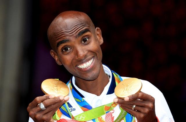 Sir Mo Farah with his gold medals from the Rio Olympics in 2016 (Mike Egerton/PA)