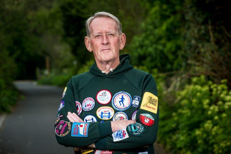 A 73-year-old is lacing up his shoes for tomorrow's London Marathon - after taking part EVERY year since it started in 1981.