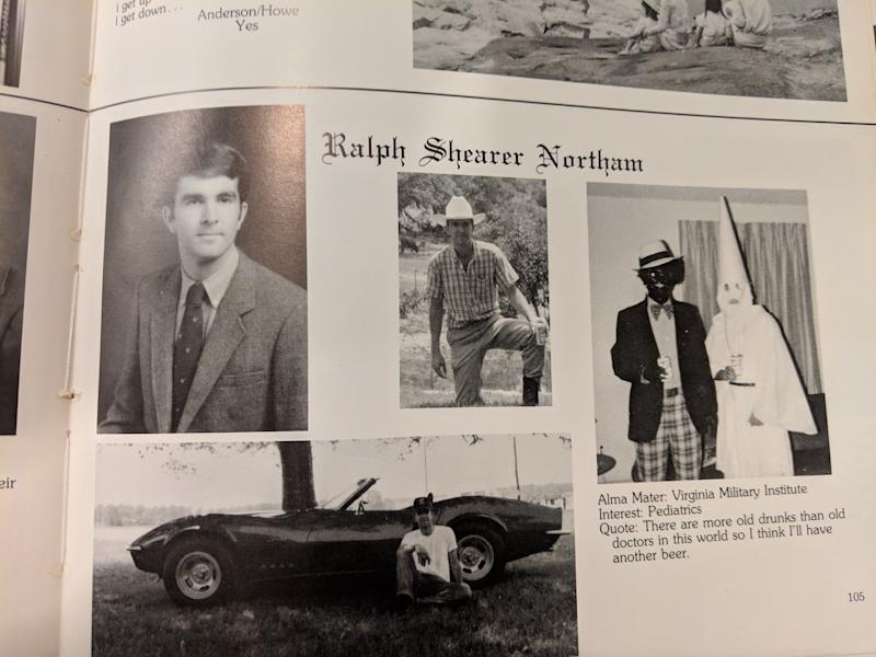 Ralph Northam's page in the 1984 yearbook of Eastern Virginia Medical School