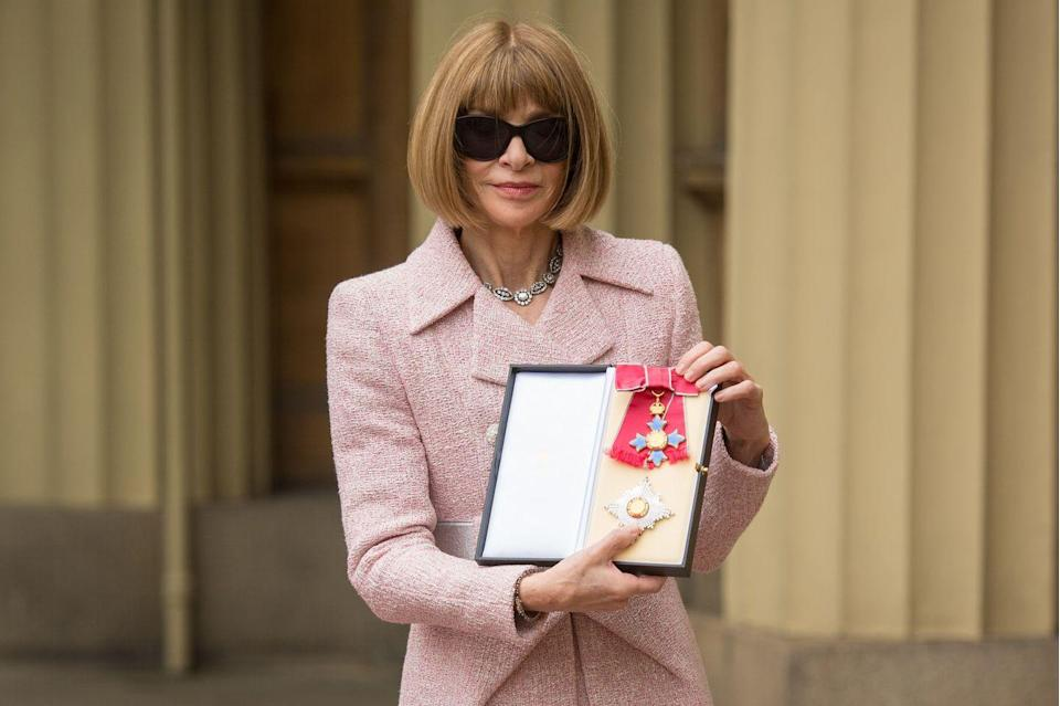 <p>Queen Elizabeth appointed Wintour a Dame Commander in 2017.</p>