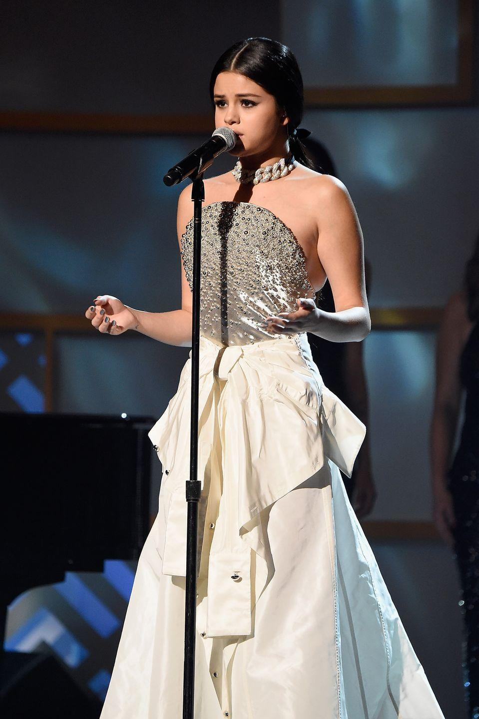 <p>Performing at Billboard's 10th Annual Women In Music in New York City.</p>