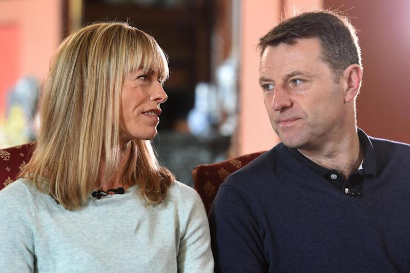 Kate and Gerry McCann, whose daughter Madeleine disappeared from a holiday flat in Portugal ten years ago: PA