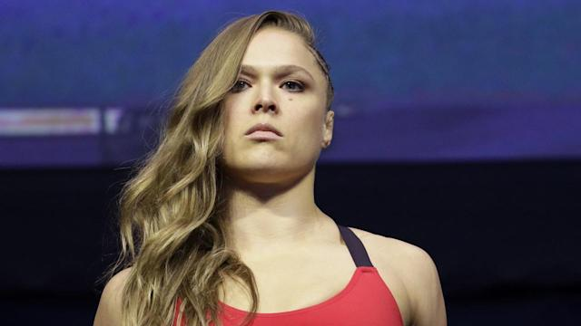 Former UFC champion Ronda Rousey appears close to a deal to join WWE. (AP)