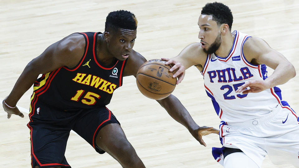 Ben Simmons scored only five points in Philadelphia's loss to Atlanta, which saw them eliminated from the NBA Playoffs. (Photo by Tim Nwachukwu/Getty Images)