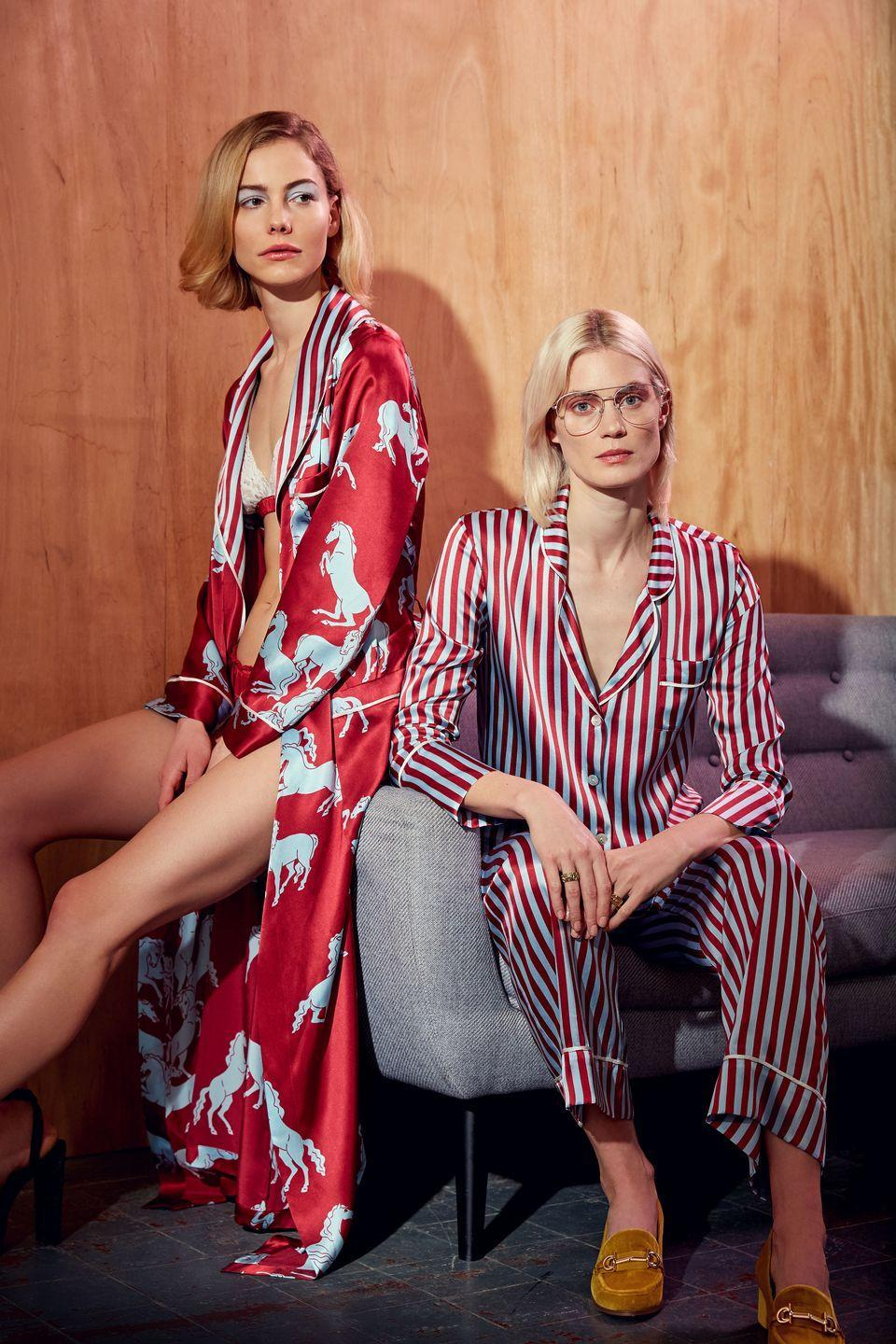 """<p><a class=""""link rapid-noclick-resp"""" href=""""https://hesperfox.com/"""" rel=""""nofollow noopener"""" target=""""_blank"""" data-ylk=""""slk:SHOP NOW"""">SHOP NOW</a></p><p>London-based sleepwear brand Hesper Fox focuses on colourful printed pyjamas made in crisp cottons, cool linens and luxurious silks. Whether you decide to wear them at home or to brunch, the label's playful pyjama sets are among our favourites. Its new resortwear line and its uplifting, vibrant appeal is also well worth browsing.</p>"""