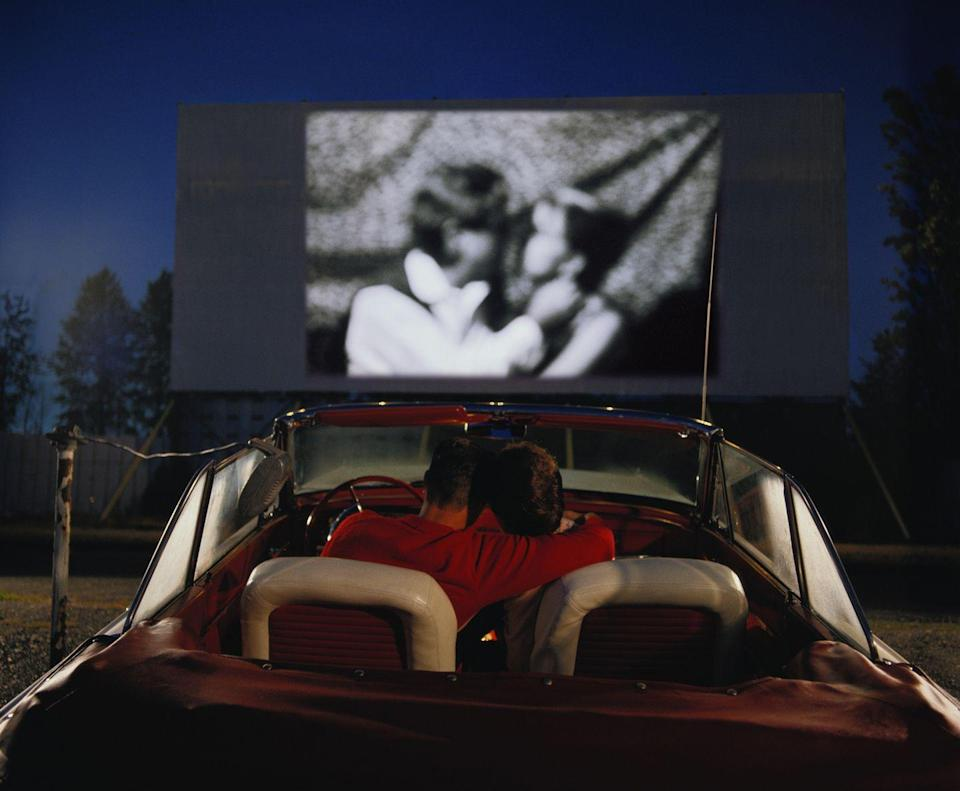 """<p>""""Nothing says romance like the drive-in,"""" says Federoff. """"Grab the popcorn—and each other—while watching a <a href=""""https://www.oprahdaily.com/entertainment/tv-movies/g27968094/best-halloween-movies-on-netflix/"""" rel=""""nofollow noopener"""" target=""""_blank"""" data-ylk=""""slk:Halloween movie"""" class=""""link rapid-noclick-resp"""">Halloween movie</a> or retro classics from the 80's and 90's. This date is sure to get the romance in high gear. It worked for our parents!"""" None left in your neighborhood? A projector, and your wall will also do the trick for a DIY theater experience at home.</p>"""