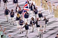 <p>Great Britain entered the opening ceremony on Friday night. </p>