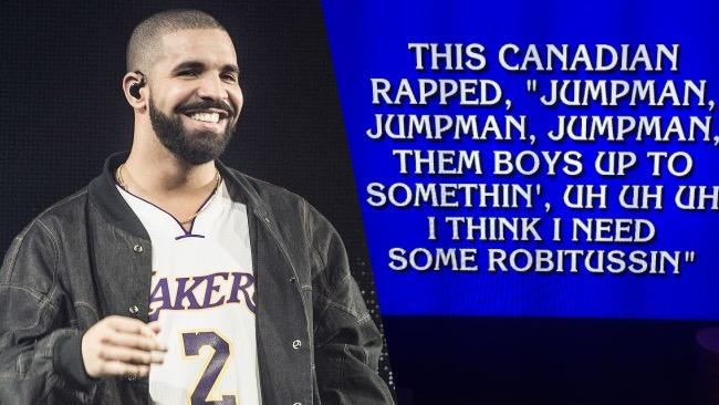 Drake Received His Own 'Jeopardy' Question, Forcing Alex Trebek To