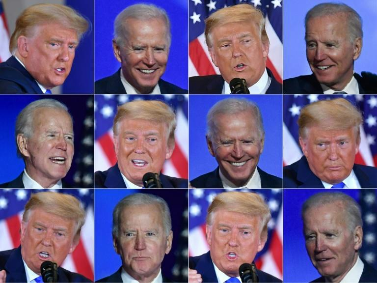 Democratic presidential candidate Joe Biden and US President Donald Trump