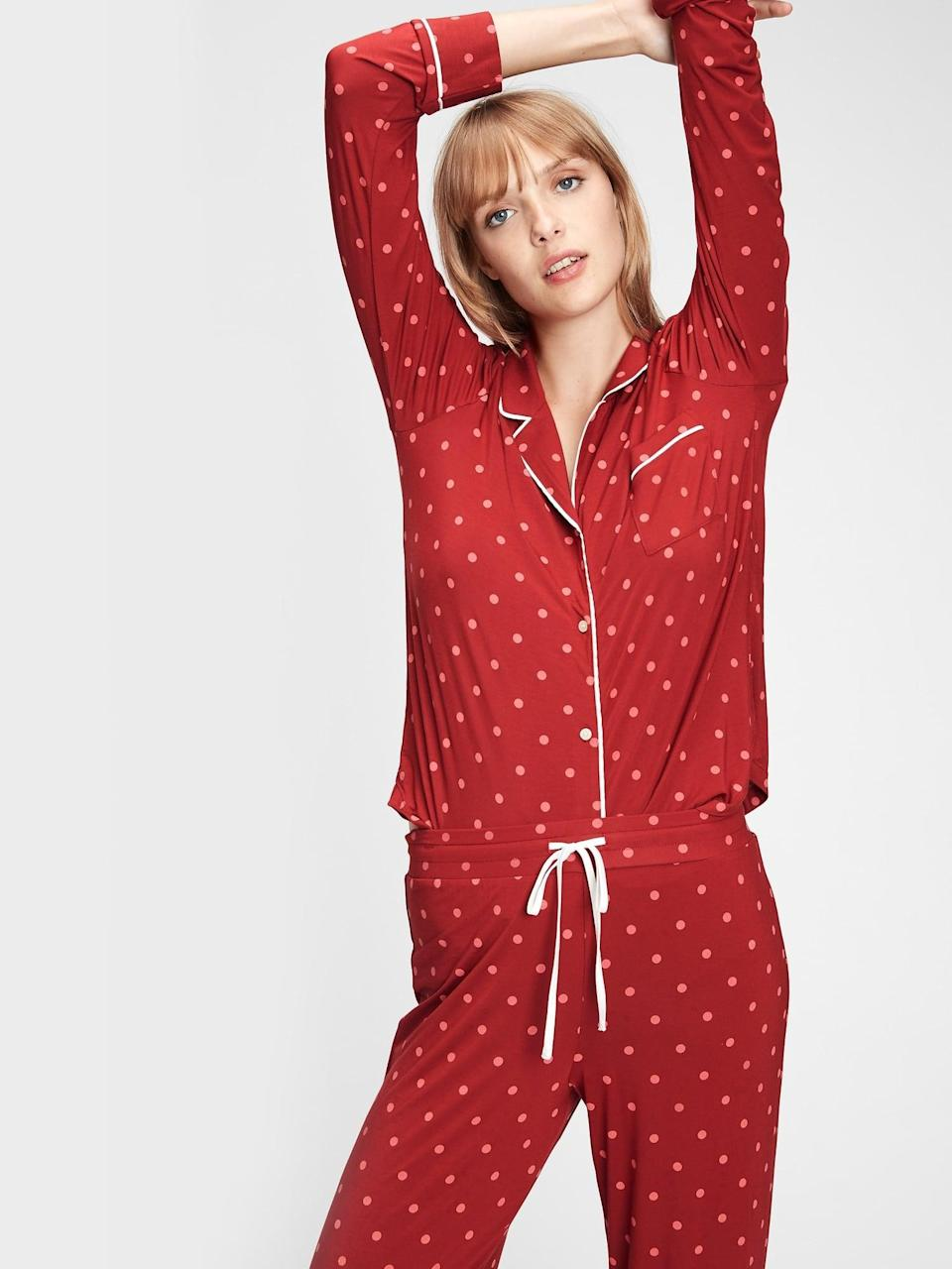 <p>It might be time for a Zoom Galentine's Day pajama party. Order this <span>Gap Pajama Shirt in Modal</span> ($31, originally $40) now!</p>