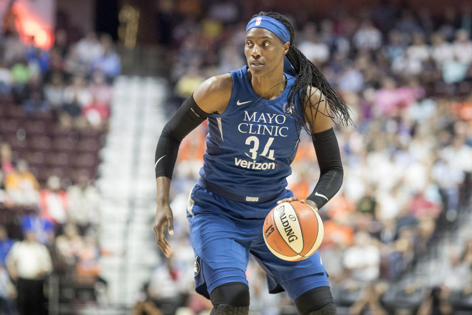 Sylvia Fowles broke Lisa Leslie's double-double record on Sunday night while leading the Lynx past the Mercury.