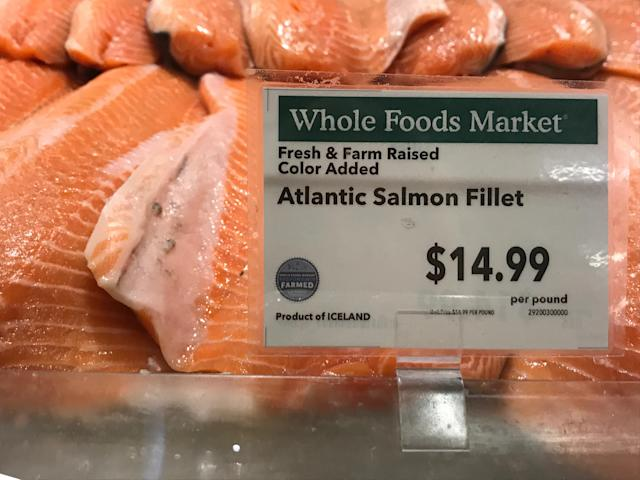 Salmon prices last Friday.