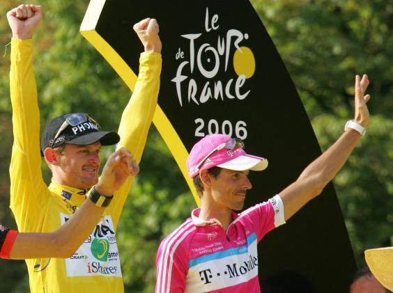 Floyd Landis was later stripped of his 2006 Tour de France title (Getty)