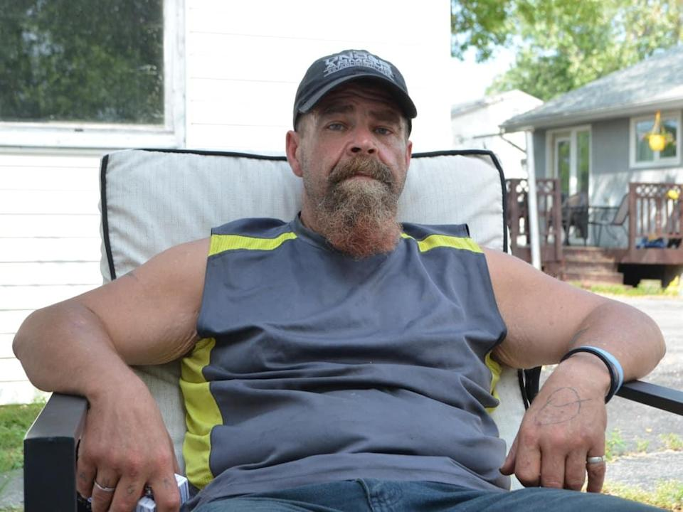 Jason Krassilowski, 51, lives in the northwestern Ontario city of Dryden. He says he wants treatment for his addiction, but the process is so arduous, he doesn't know where to start. (Logan Turner/CBC - image credit)