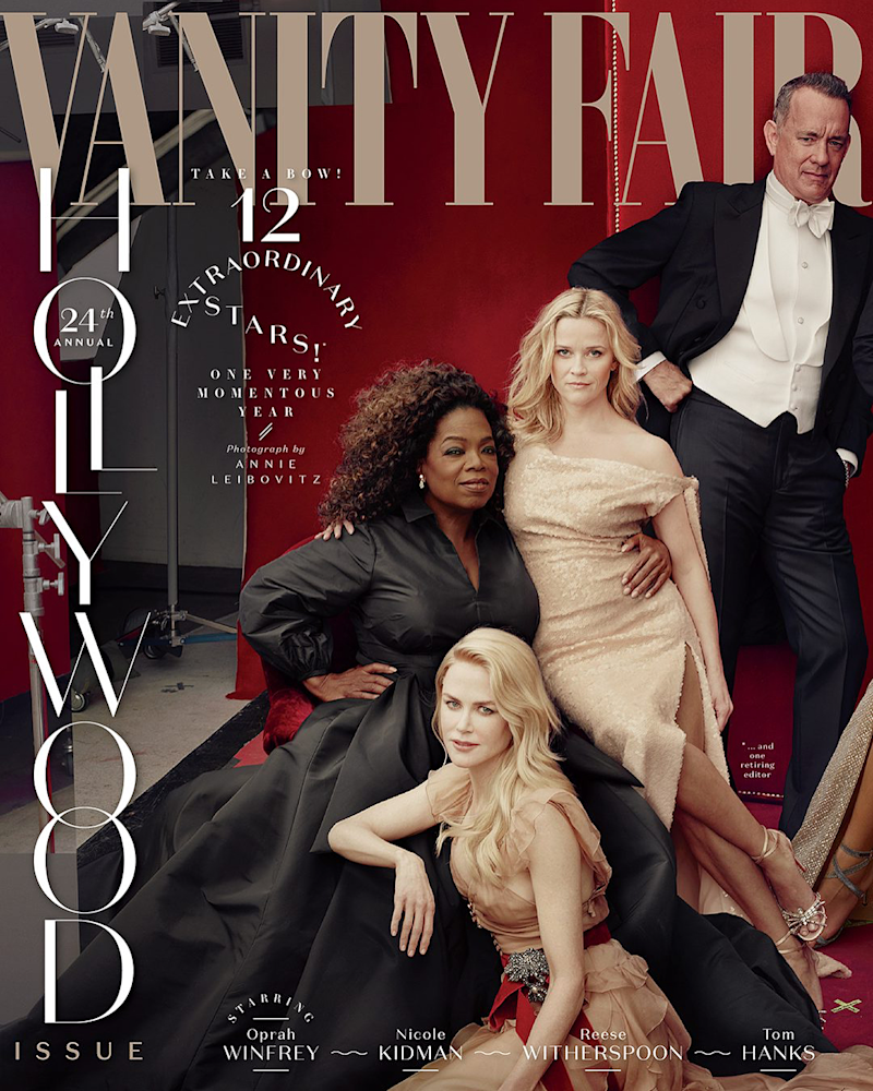 James Franco photoshopped out of Vanity Fair's Hollywood Issue