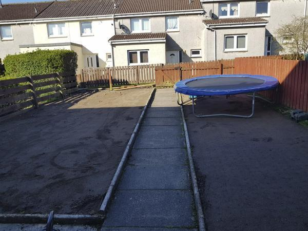The grass was stolen from the family home in Livingston, West Lothian (SWNS)