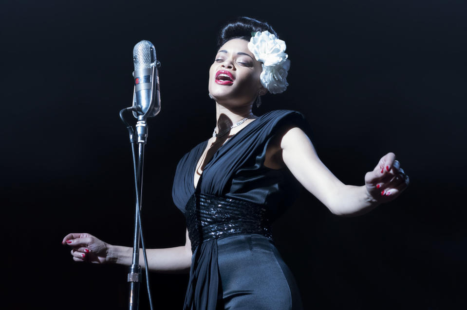"En esta imagen proporcionada por Paramount Pictures Andra Day en ""The United States vs Billie Holiday"". (Takashi Seida/Paramount Pictures via AP)"
