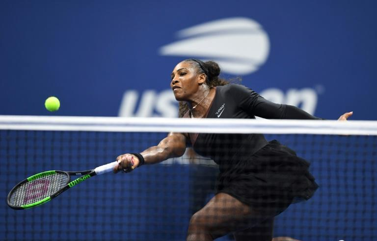Straight sets: Serena Williams defeats eighth-seeded Czech Karolina Pliskova to reach the semi-finals of the us Open
