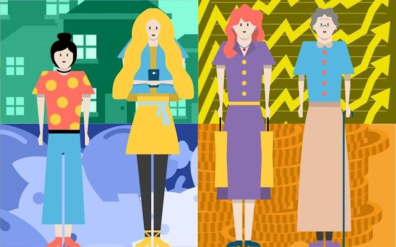 Four women of different ages