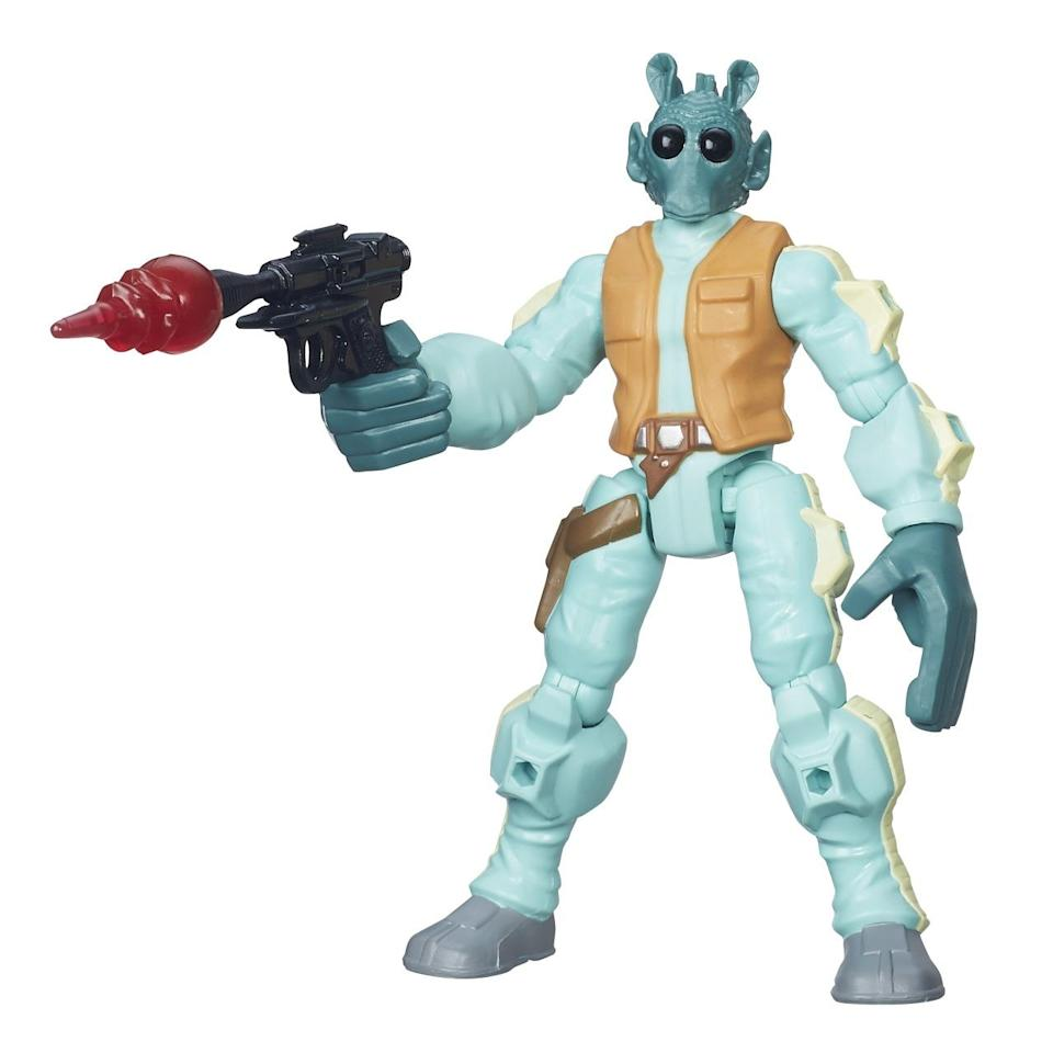 <p>A slew of new 'Star Wars' toys in this Hasbro line are coming, including a new Greedo. Keep your eyes peeled for more 'Star Wars' creatures as well as Boba Fett, Darth Maul, Chewie, C-3PO, and more. </p>