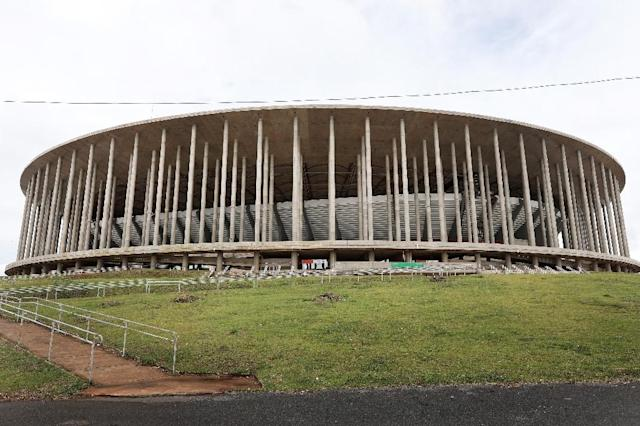 By the time the stadium was built, Brazil was sliding into economic troubles, offering a stark reminder to the 2018 World Cup hosts Russia of how easily expensive venues can become surplus to requirements (AFP Photo/Sergio LIMA)