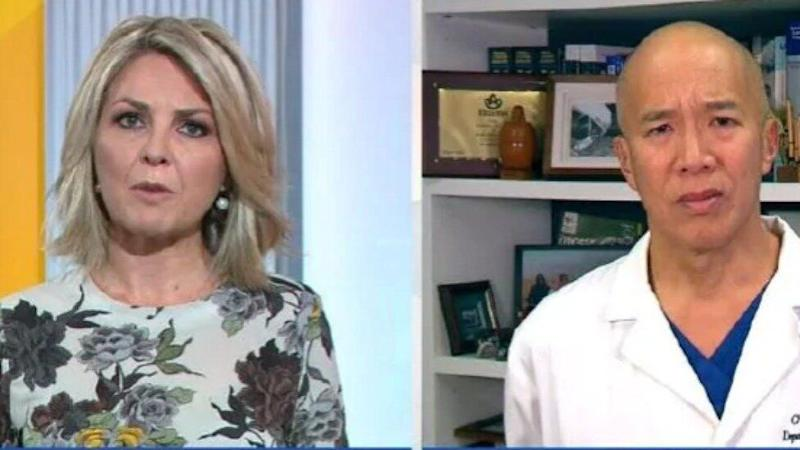 Georgie Gardner and Charlie Teo have engaged in an awkward war of words on Wednesday's episode of Today. Photo: Channel Nine